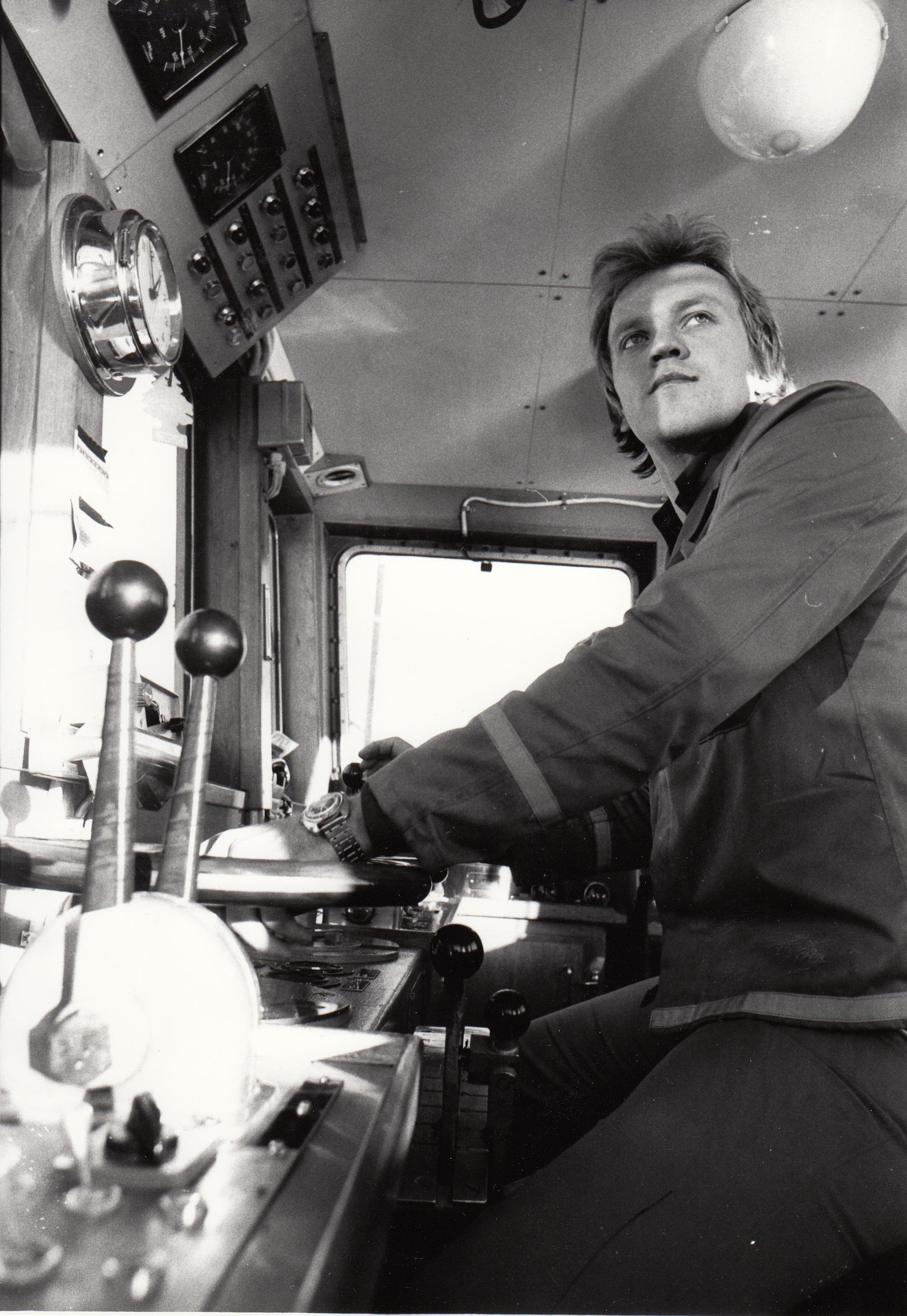 1978-10-28 Färjskeppare Per Erik Kivijärvi kör sista färjeturen
