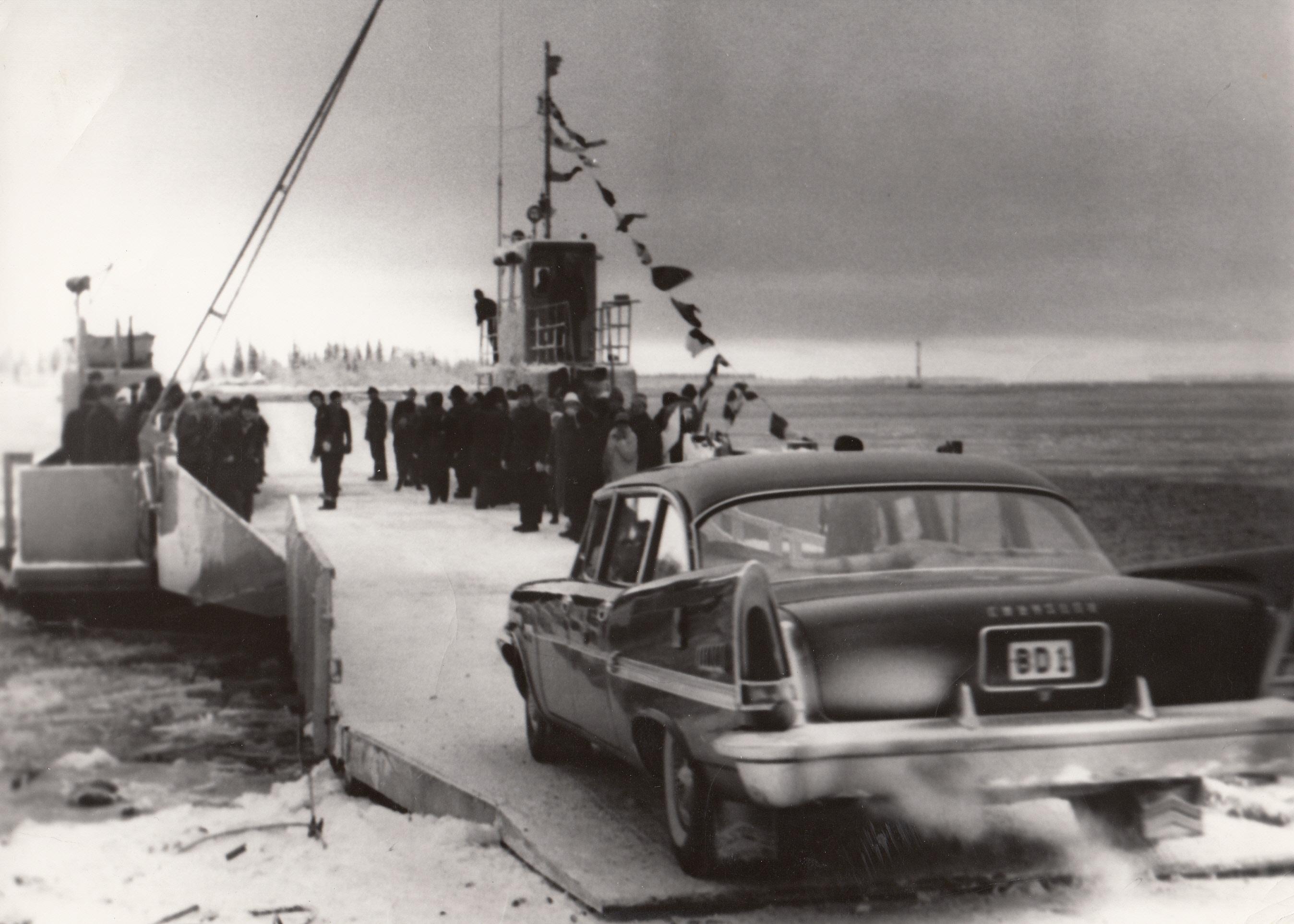 1961-11-29 Invigning färjan