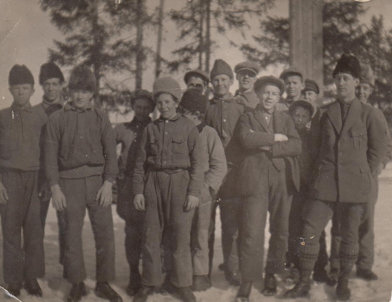 Ett minne från snickarslöjden 1930 teckna Oskar Snällman