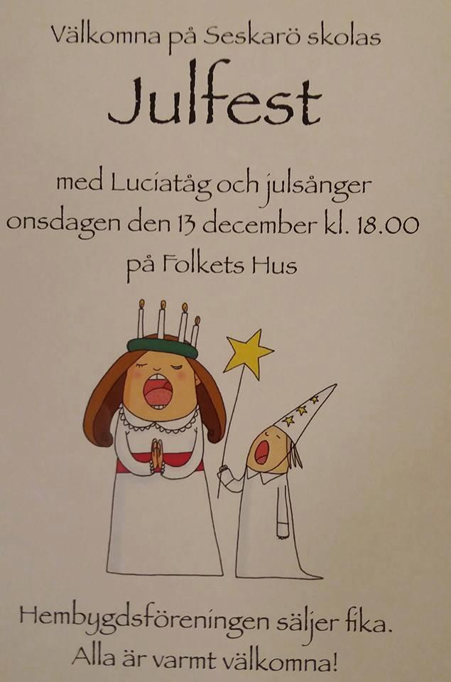 Hembygdsföreningen julfest 2017